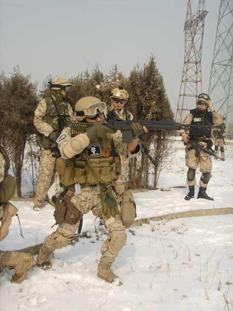 在的特警、常规特种部队、陆军等的装备作为模板,装备成真的军人一图片